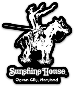 Sunshine House Indian Black Wave Sticker