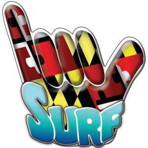 Sunshine House MD Surf Sticker - MD Finger