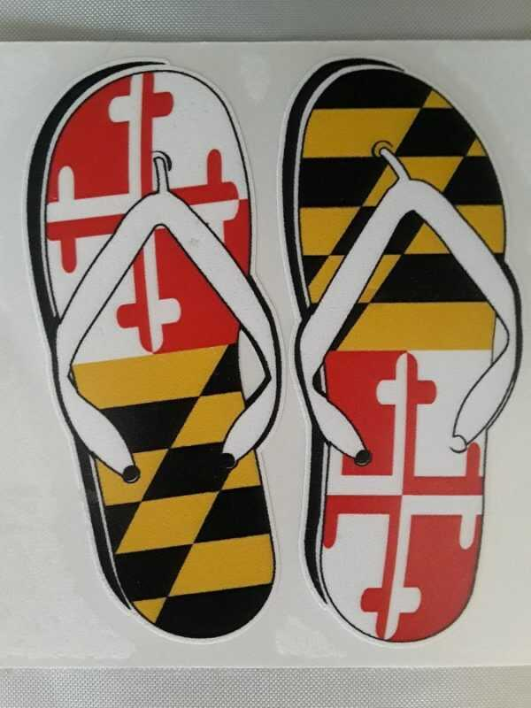 SH Maryland Flip Flop Decal