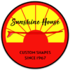 Sunshine House Vintage Custom Shape sticker