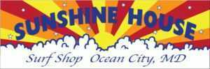 Sunshine House Surf Shop Ocean City MD Stickers